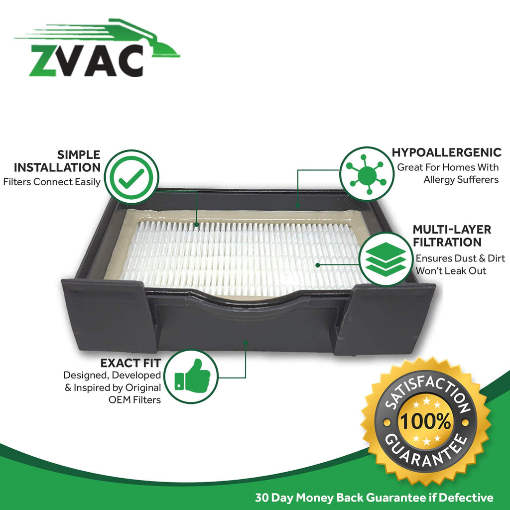 ZVac 1 Eureka MM HEPA Filter HF8 Compatible Replacement Part Numbers 60666B, 60666A Fits: Eureka Mighty Mite Models 3695, 3685 and S3686 Series.