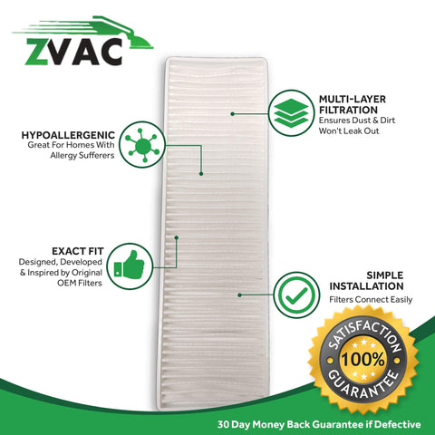 ZVac Replacement 32076 Compatible Bissell Style 7 & 9 HEPA Filter Generic