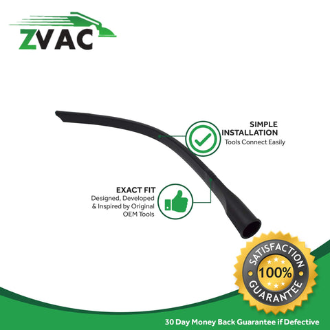 ZVac Compatible Flexible Crevice Tool Replacement for Eureka/Hoover/Dirt Devil/Oreck Flexible Crevice Vacuum Tool. Fits Most Vacuum Hoses