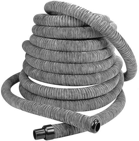 Hide-A-Hose ZVac Central Vacuum Hose System Installation Kit with 50' ft Retractable Central Vacuum Hose with Couplings, Elbows, Inlet Valve Compatible with Electrolux, Nutone, Beam, Honeywell & More