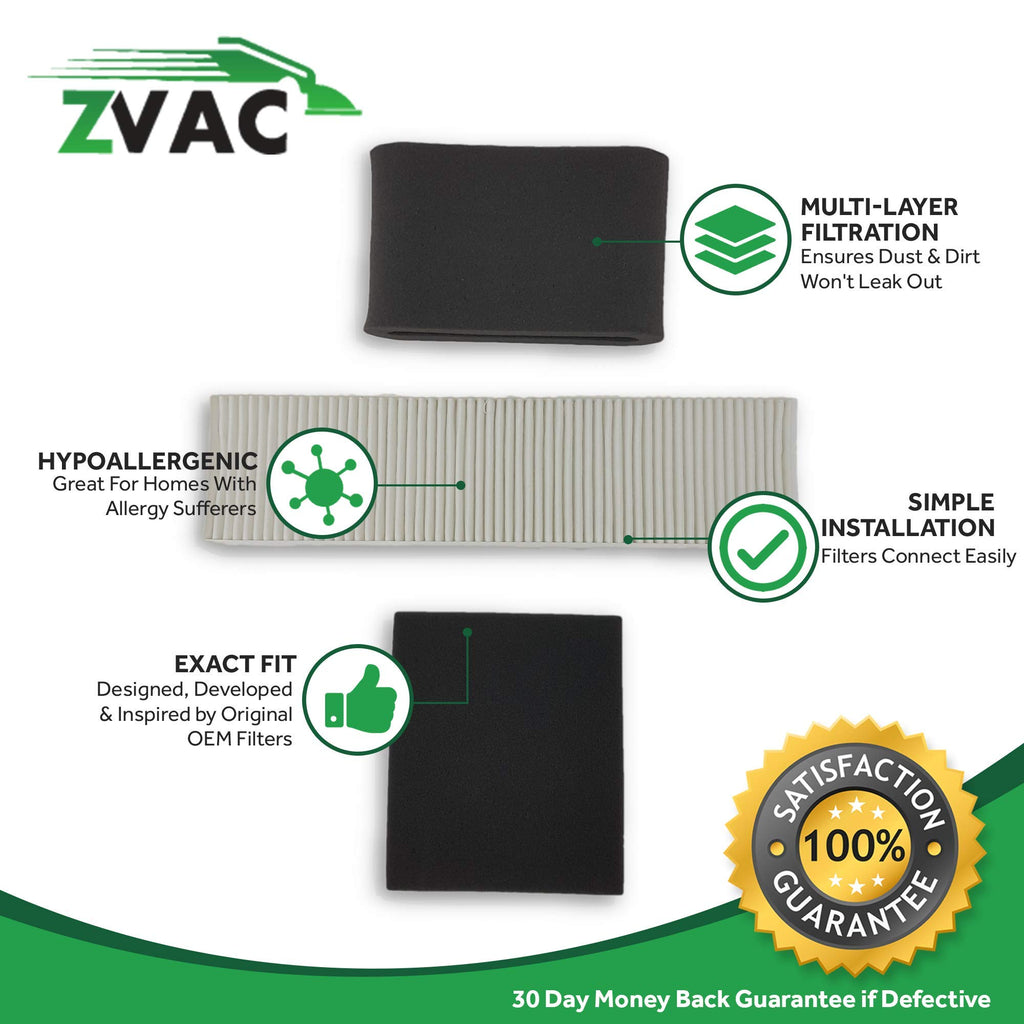 Bissell Lift-Off/ Lift-Off Revolution Cyclonic Vacuum HEPA & Foam Filter Kit by ZVac