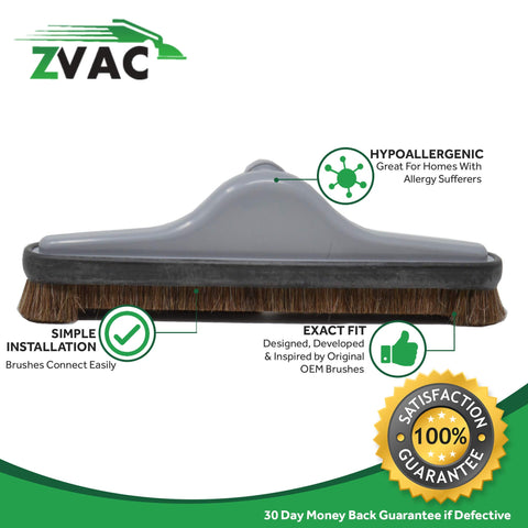 ZVac Compatible/Replacement for Proteam # 100623/101446 / 10014414-inch Hard Floor Brush Tool with Natural Brushes. Generic Part Replaces Proteam 14""