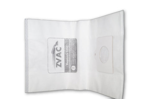 ZVac 10Pk Compatible Cloth Vacuum Bags Replacement for Kenmore Style C/Q Bags. Fits Models 50558, 5055, 50557,53292,53291,50404 & 50510