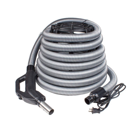 ZVac Universal Central Vacuum Attachments Kit for Central Vacuum Systems with Electric Powerhead Nozzle ZPH-33 & 30 ft Hose Compatible with Miele, Nutone, Electrolux, Hayden, Centec, Kenmore & Airvac
