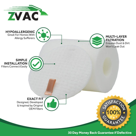 ZVac 1 Shark NV500 Rotator Pro Lift-Away Foam Filter Generic Part Replaces Part Numbers XDF500, XFF500, EU-18500