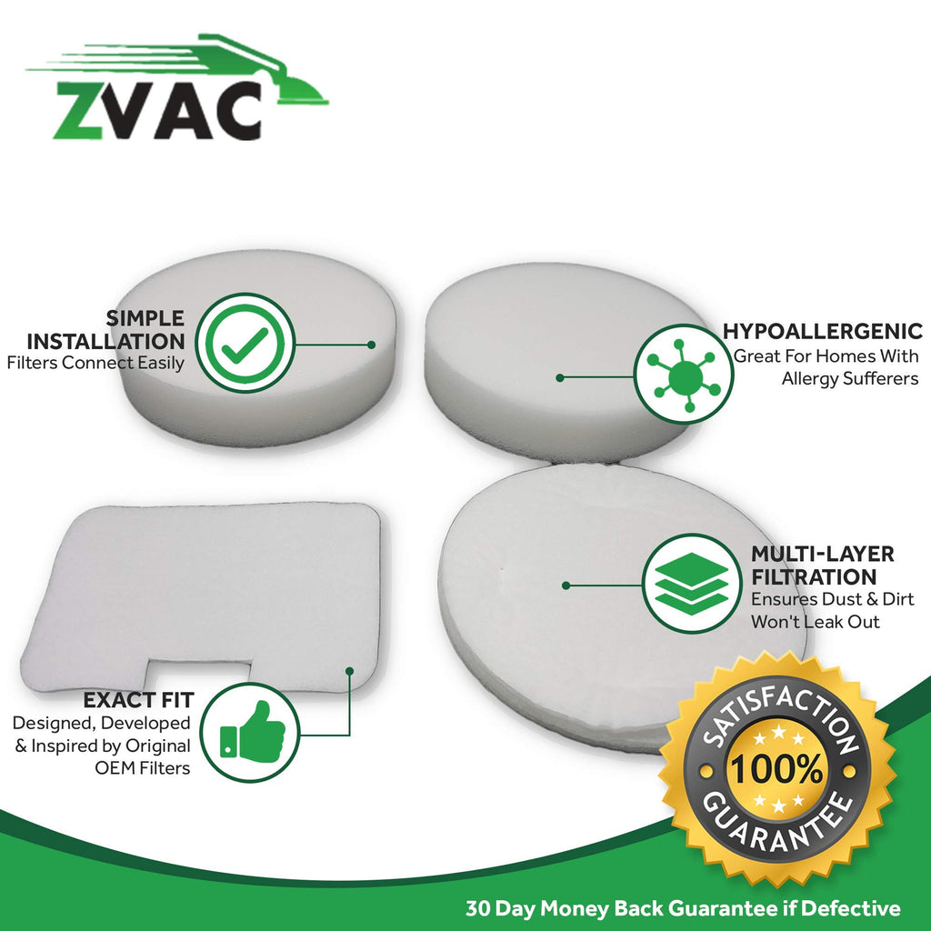 ZVac Compatible Vacuum Filter Replacement for Shark NV22L Filter. Fits Shark Navigator NV22L. Replaces Part# XF22