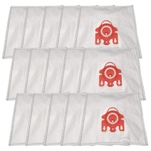ZVac 15Pk Compatible Vacuum Bags Replacement for Miele FJM Airclean Vacuum Bags. Fits Compact Canisters S518 S318 S336i S256i S344i S312 S326 S514