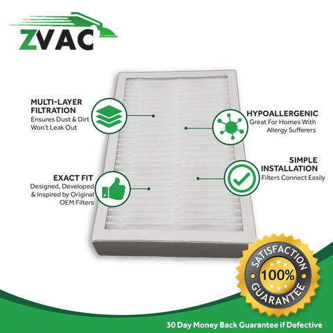 ZVac 2Pk Compatible Vacuum Filter Replacement for Kenmore EF-2 Exhaust HEPA Vacuum Filter. Replaces Parts# 8175116, FLTR2000, 8175116, 86880