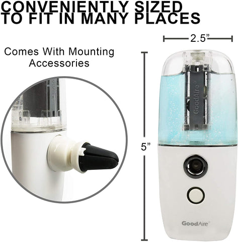 Goodaire Air Freshener Spray & Mosquito Repellent Portable Travel Size P1 Automizer (Powder Blue)
