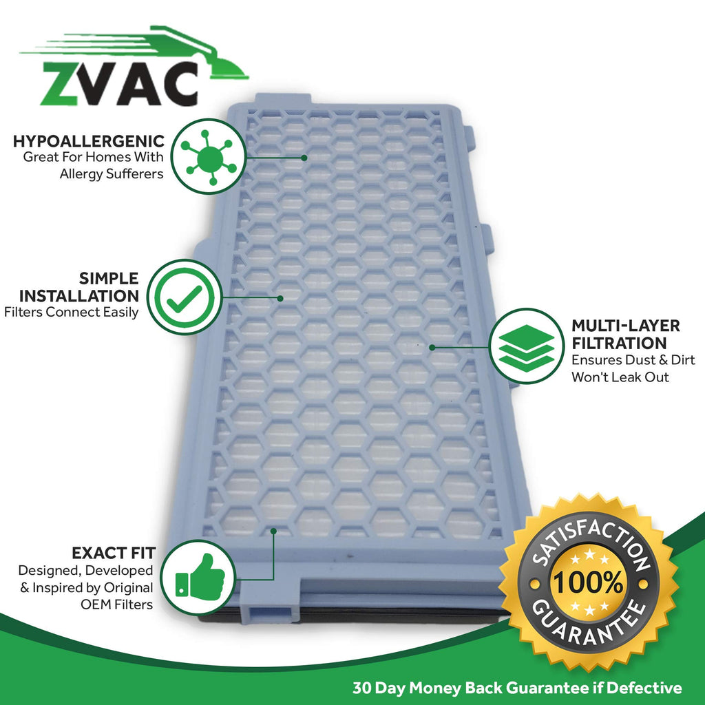 ZVac Comparable Miele SF-AH 50 HEPA Filter Replacement Miele Generic AH50 HEPA FIlters. Replaces Part # SF AH50, 5996882, 09616110, 09616280 Fits: Miele S5000, S4212, S4210, S658, S5210, S5980 & More!