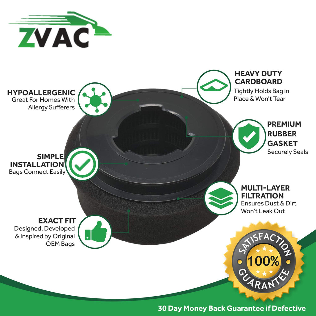 ZVac 2 Bissell 9/10/ 12 Inner Filter & Outer Filter Generic Part Replaces Part Numbers 32064, 2037913, 2032587, 203-2587 Fits: 18M9, 3574, 6594, 6579, 3576