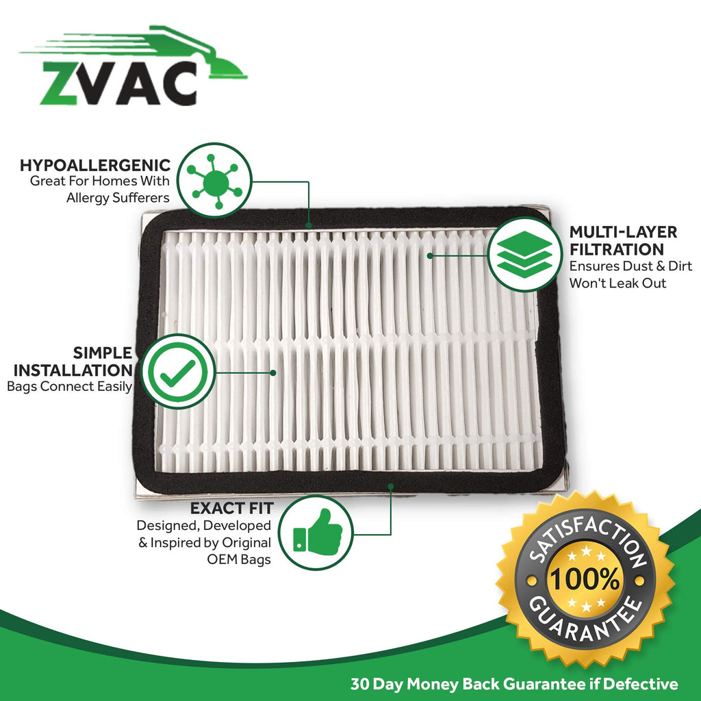 ZVac Replacement Compatible EF2 HEPA Filter for Kenmore Ultracare and Whisperstone 86880 (Pack of 4)