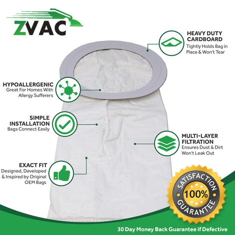 ZVac Premium Bags Made, Developed & Engineered in Germany (6, 10QT)