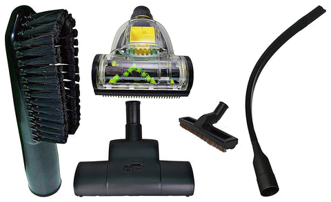 "ZVac Compatible Attachment Kit Replacement for Astrovac. Premium Generic Astrovac Central Vacuum Attachments with Floor Brush, 24"" Flexible Crevice Tool, Carpet Turbo Vacuum Head, Pet Attachments"