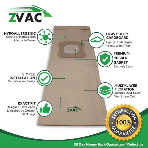 ZVac Replacement Compatible Kirby Vacuum Bags Style G Vacuum Bags (6 Bags)