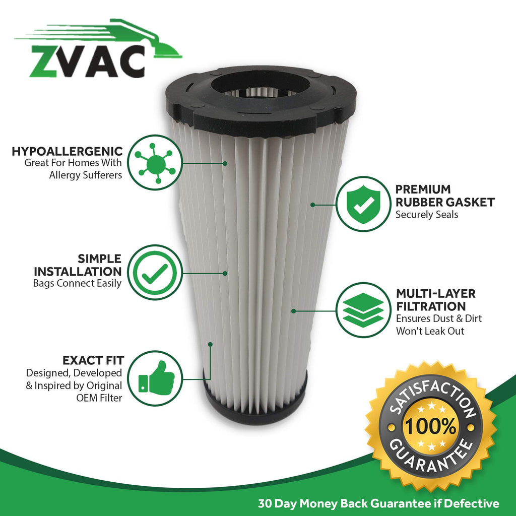 ZVac 2Pk Compatible Vacuum Filters Replacement for Dirt Devil F1 Filter. Replaces Parts# F928, 2JC0280000, 3JC0280000. Fits: Dirt Devil Breeze