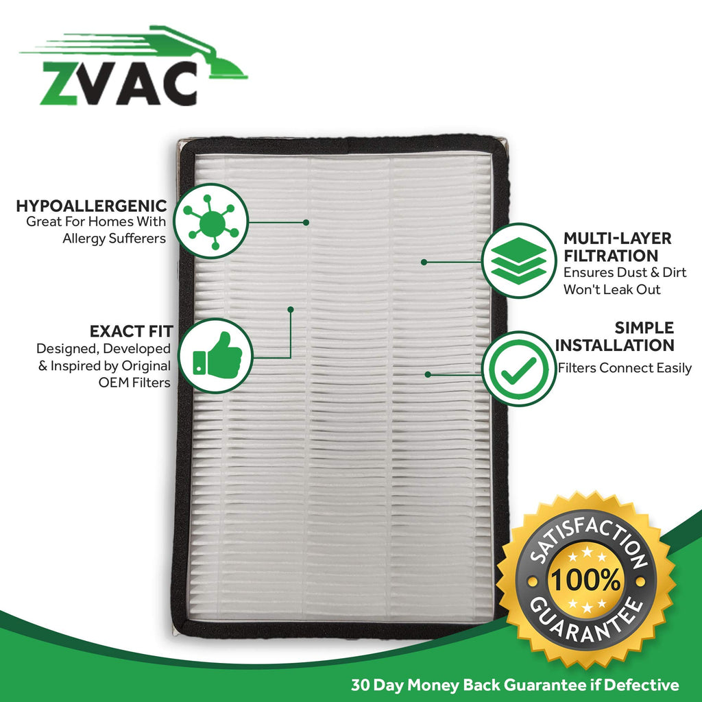 ZVac 4Pk Compatible Filter Replacement for Kenmore Progressive HEPA Filter.Parts # 02053295000, 8175062, KC38KCEN1000 & 2086889
