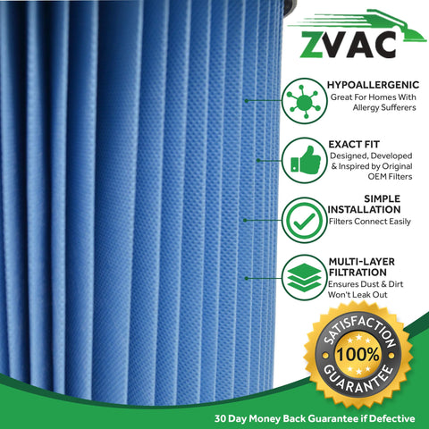 ZVac Compatible Ridgid VF4000 Replacement Filter for Ridgid VF4000 Filter for Wet/Dry Vacuums. Premium Generic Ridgid Shop Vac Filter Replaces Ridgid