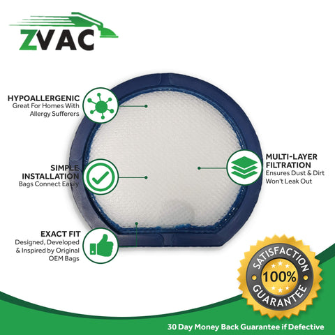ZVac Compatible Filter Replacement for Hoover T-Series Filter. Replaces Parts# 303173001