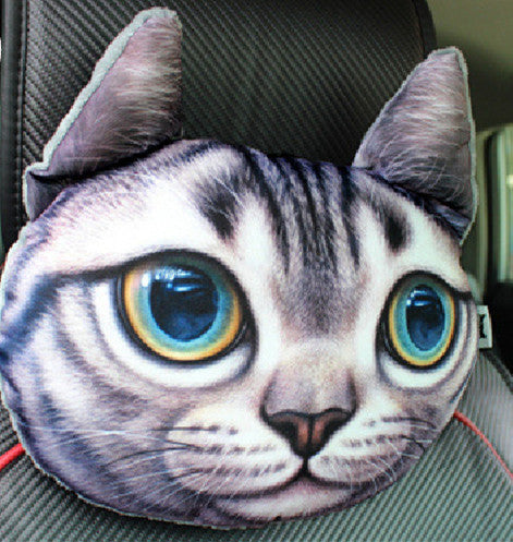 Dog Cat Shape Cushion For Use As Car Headrest