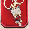 Lucky Smile Cat Crystal Key Chains
