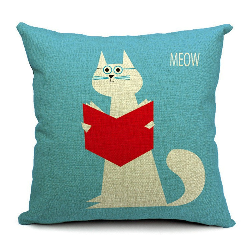 Cat Style Fashion Cushion Pillow Case