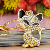 Pretty Cat Crystal Key Chain