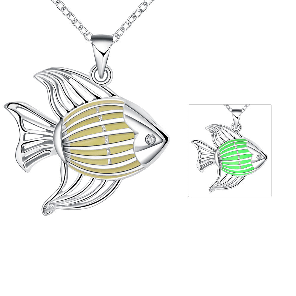 Fish Hollow Glow In The Dark Necklace