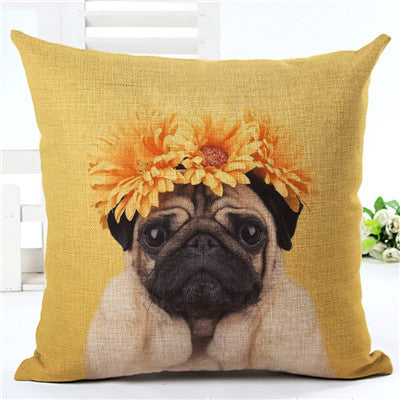 Dog Decorative Cushion Covers Pillow Case