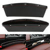 2 Pcs Set Leather Car Seat Gap Pocket