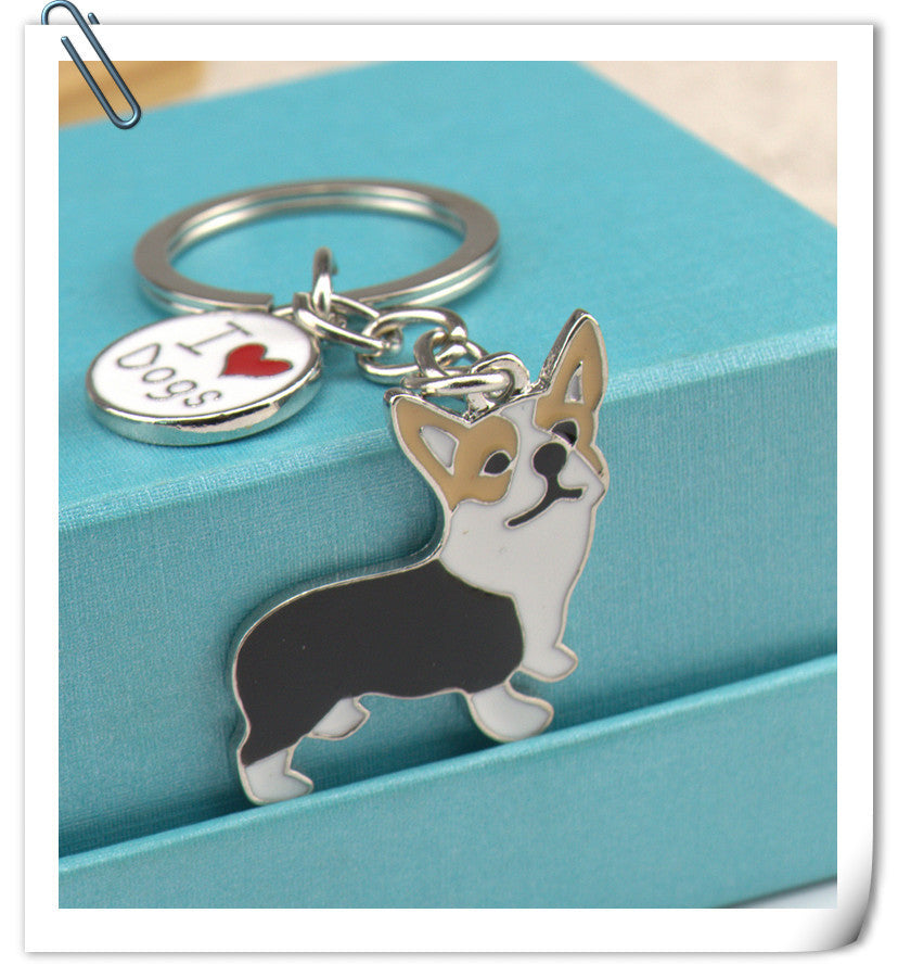 Corgi Dog Key Chain Key Ring
