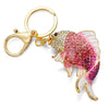 Enamel Crystal Fish Key Chain
