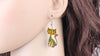 Acrylic Cat Shape Drop Earring