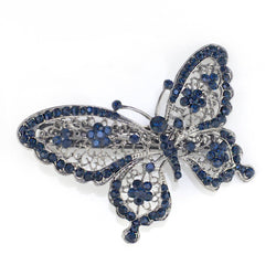 Butterfly Crystal Hair Clip Accessories Jewellery