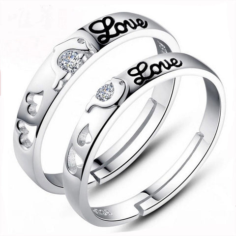 Dolphin Silver Plated Couple Rings