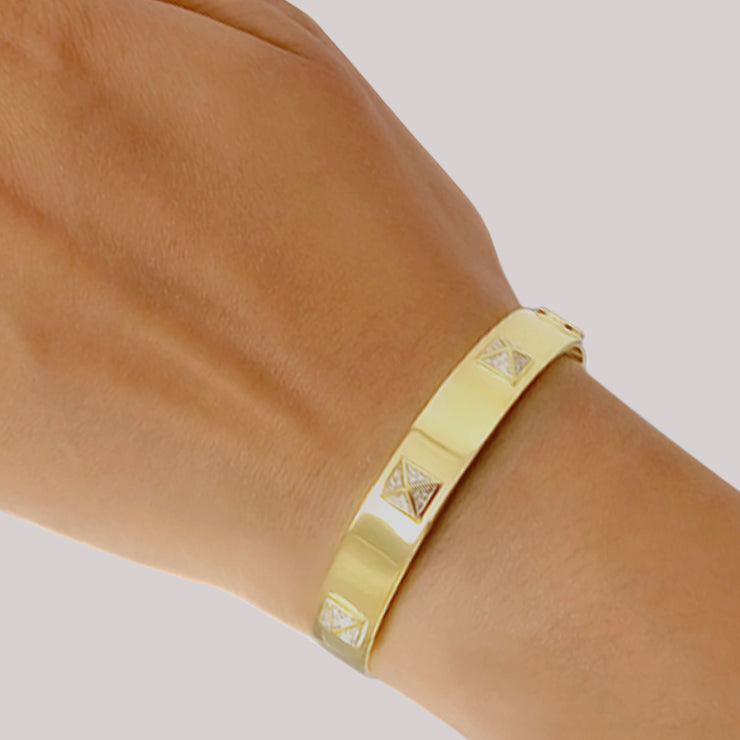 Wearing the You Stud Cuff Bracelet in Gold