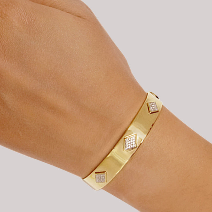 Wearing Cuff Love Cuff Bracelet in Gold