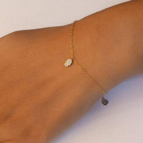 In the Palm of Your Hand Gold Bracelet
