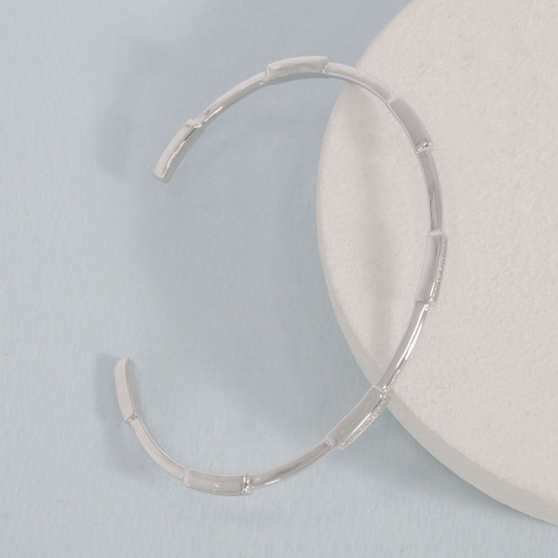 Third Time's a Charm Cuff Bracelet in Sterling Silver