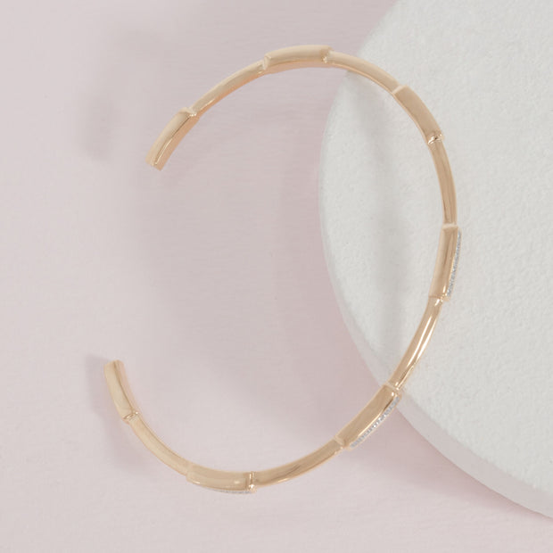 Third Time's a Charm Cuff Bracelet in Gold