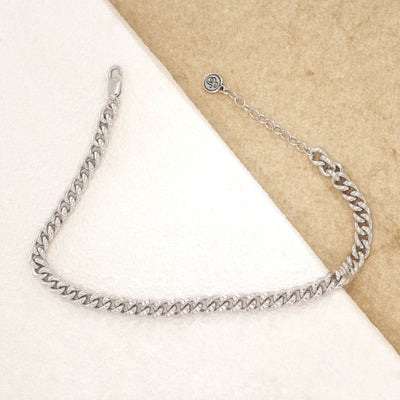 Finding Middle Ground Sterling Silver and Diamond Bracelet