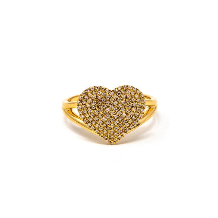Devoted Heart Ring in Gold