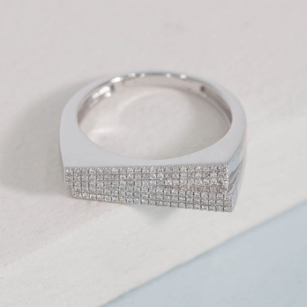 Double The Diamonds Sterling Silver and Diamond Ring