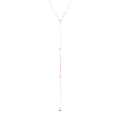 Drop It Like It's Hot Rose Gold Necklace