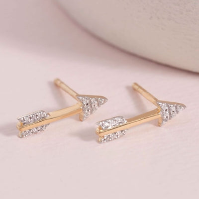 Take Aim Gold Arrow Earrings