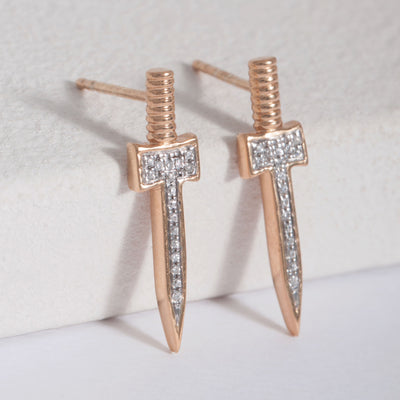 Slay All Day Rose Gold Earrings