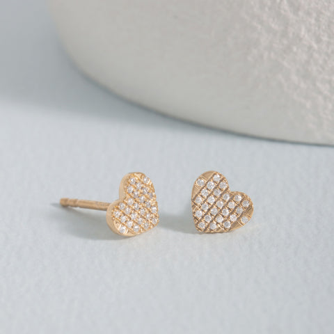 All Heart Gold Stud Earrings
