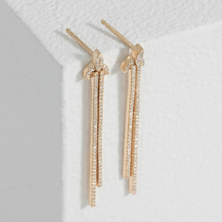 Let Loose Gold Dangle Earrings