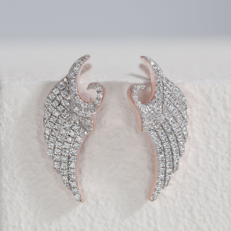 It's a Wing Thing Rose Gold Stud Earrings