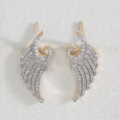 It's a Wing Thing Gold Stud Earrings